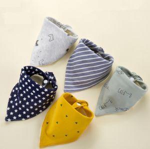 Baby Dreieckstücher 5 Stück Halstuch aus Baumwolle mit verstellbaren Druckknöpfen Lätzchen für Kleinkinder Jungen und Mädchen