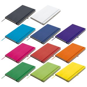 11x Notizbuch / A5 / 160S. / blanko / PolyurethanHardcover / 11 verschiedene Farben