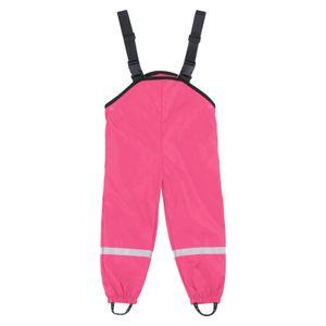 Unisex Kinderregen Latzhose Winddichte und wasserdichte Schlammhose Größe:128,Farbe:Rosa