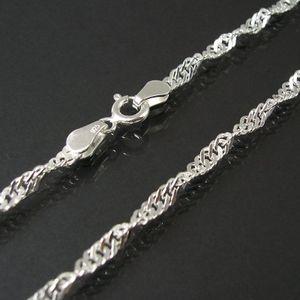 Kette Singapurkette 925 Silber 3,2mm Niklarson Halskette 50cm 18032-50
