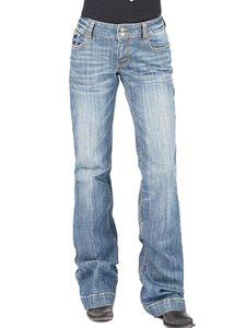 Damen Jeans Stretch Denim Lange Hosen Niedrige Taille Schlaghose Hose mit weitem Bein,Farbe:Hellblau,Größe:XXL