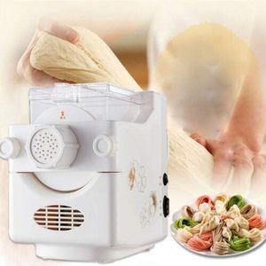 Elektrische Nudelmaschine vollautomatisch Pastamaschine Spaghettimaschine Pastamaker mit Wiegefunktion inkl. 9 Schimmel 160w Weiß