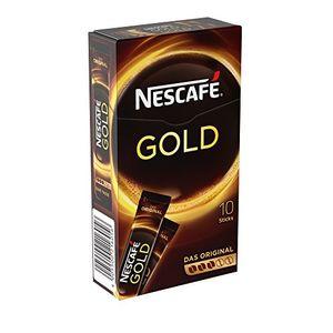 Nestlé Nescafe Gold löslicher Kaffee 10 Sticks 20 g