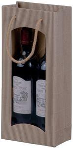 smartboxpro Flaschentüte, für 2 Flaschen, saphirblau