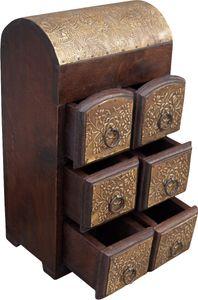 Schubfachschränkchen, Apothekerschränkchen, Schmuck Schränkchen - Modell 8, Braun, Holz, 35*20*14 cm, Dosen, Boxen & Schatullen