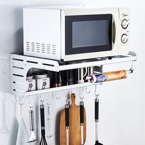 Mikrowelle Halterung Wandregal Halter Rack Küchen Multifunktional Haken Haus