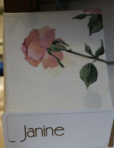 Janine Mako-Soft-Seersucker Bettwäsche 135x200 Rosen  2277-11 1B