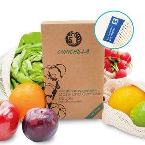 Obst- und Gemüsebeutel | 3 Einkaufstaschen INKL. 1 Brotbeutel XL