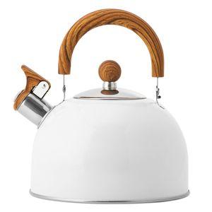 Klappgriff Pfeifkessel Küchenpfiffkessel Im Europäischen Stil Weiß