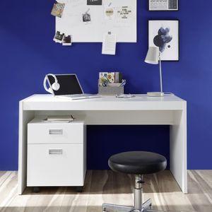 ALASKA Weiß Schreibtisch Kinderzimmer Tisch Jugendzimmer PC Büro ca. 135 cm