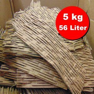 Verpackungsmaterial / Füllmaterial / Packpolster / Pappschreder aus geschredderten Kartonagen, ideale Polstereigenschaften - 56 Liter, 5 kg