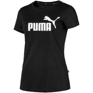 PUMA ESS Logo Damen T-Shirt Baumwolle Schwarz, Größe:XXL