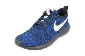 NIKE WMNS Roshe NM Flyknit Damen Sneaker Blau 843386 404, Größenauswahl:38.5
