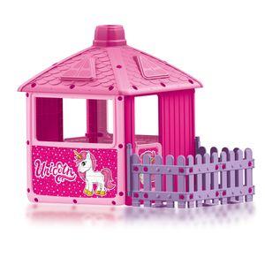 Mein erstes Haus Unicorn mit Zaun Spielhaus im Einhorn Design