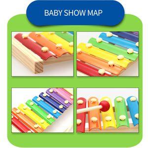 6 er Set Xylophon und Hammerspiel Spielzeug, Montessori Pädagogisches Vorschullernen Musikspielzeug Holzspielzeug