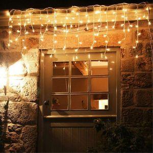 15m 600 LED Weihnachtsbeleuchtung Lichterkette Schneefall Lichtervorhang Eisregen Weihnachtsbeleuchtung