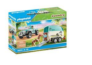 PLAYMOBIL Country 70511 PKW mit Ponyanhänger