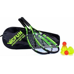 VICTOR VICFUN Speed Badminton 100 Set, schwarz/grün, 868/0/0
