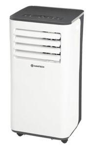 HANTECH lokale mobile Klimaanlage Klimagerät mit Abluftschlauch + Fernbedienung  9.000 BTU Farbe: weiß/schwarz bis Raumgröße 62 m³