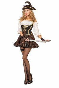 Wilbers Piratin Seeräuberin 36 - 56 Damenkostüm Piratin-Kleid Gr. 36 - S