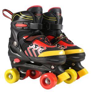 Rollschuhe Kinder Verstellbar Roller Skates größenverstellbare, Rollerskate ABEC 7, Quad Skates für Mädchen, Jungen, Jugendliche,Größe S (31-34) ,Schwarz