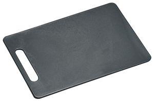 Kesper Tranchierbrett aus PE-Kunststoff, 29 x 19,5 x 0,5 cm, in grau, mit Griff