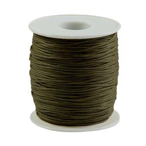 90m gewachste Baumwollschnur 1mm Wachsschnur Schmuckkordel Schnur, Farbwahl, Farbe:tannengrün