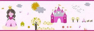 A.S. Création Bordüre Little Stars bunt rosa 5,00 m x 0,17 m 358531 35853-1