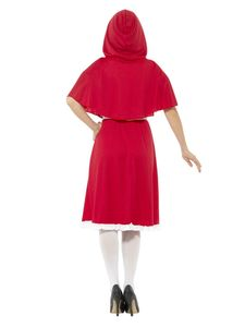 Smiffy's - Rotkäppchen-Kostüm - Rot - XL