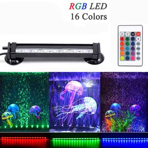 16cm 9LED Aquarium Lampe RGB Tank Wasserdicht Unterwasser Leuchtet Aquarien Beleuchtung