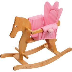Small Foot 4136 Klassisches Schaukelpferd aus Holz, mit Sitzeinhang, natur