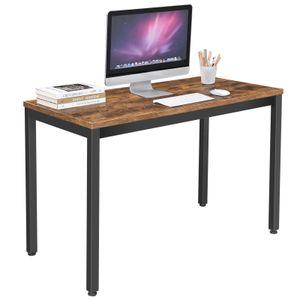 VASAGLE Schreibtisch im Industrie-Design | Computertisch mit Metallgestell | multifunktional robust | Holzoptik Vintage LWD64X