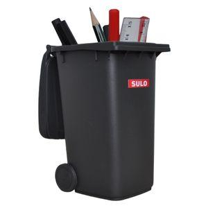 Mini-Mülltonne original SULO große Ausführung 240 Liter GRAU Miniatur Behälter Aufbewahrung Tischmülleimer Stiftehalter Büro Spielzeug Sammlerstück