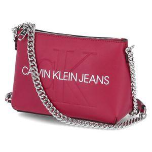 Calvin Klein Umhängetasche CAMERA POUCH W/CHAIN Rot Damen