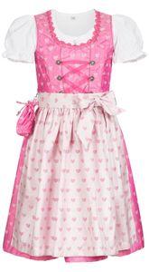 Kinderdirndl 3-teilig Nebra in Pink von Nübler, Größe:86