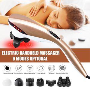 Elektrische Massagegerät Nacken Ganzkörper Vibration Handmassagegerät Infrarot