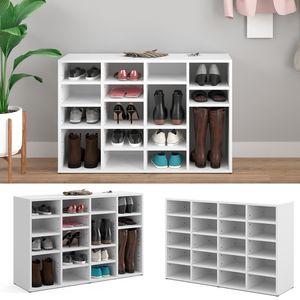 Vicco Schuhschrank LYSANDER Weiß für 20 Paar Schuhe Schuhständer Schuhablage Flur Diele