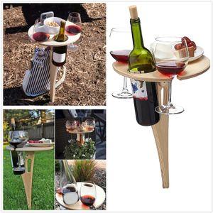 Faltbarer Tragbarer Weintabelle Weinregal Weintisch Im Freien Picknicktisch Weinglashalter Gartenausflug Weinregal Mit Tisch, Faltbar Biertisch