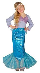 Fiestas Guirca kostüm Meerjungfrau junior blau mt 7-9 Jahre
