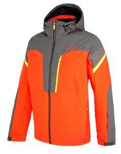 Ziener Herren Skijacke Ski Jacke Winterjacke TRUCKEE man orange grau, Größe:56