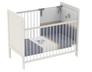 Polini Kids Kinderbett Babybett 120 x 60 cm Simple 220 weiß, 3037-04