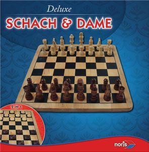 Noris Spiele Deluxe Holz - Schach & Dame; 606104577