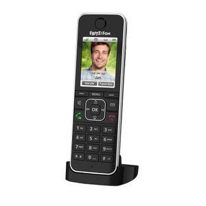 AVM FRITZ!Fon C6 Black DECT-Basisstation Anrufbeantworter Schnurlostelefon
