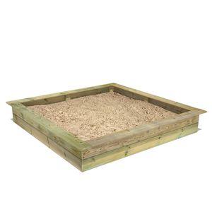 FATMOOSE PowerPit Sandkasten mit Sitzrand 195 x 195 cm