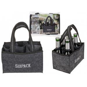 Graue Tasche, Sixpack, für 6 Flaschen