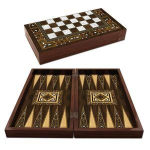 Backgammon Star Antik Mozaik Sedef Tavla