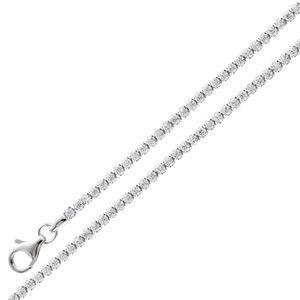 Tennisarmband Rivierearmband -  Silber 925/- Zirkonia weisse 17