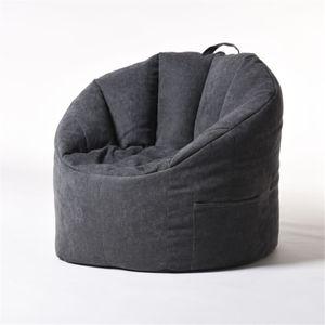 YuppieLife Large Sitzsack Stuhlliege Komfortable Adult Gaming Sofa Schonbezug Sofabezug -Grau