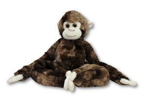 Plüschtier Affe dunkelbraun 80 cm mit Kletthänden Kuscheltier
