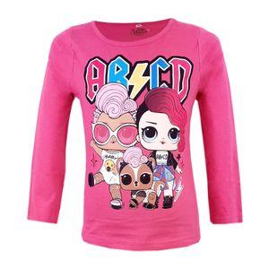 LOL Surprise langarm T-Shirt Baumwolle Rosa- Gr 128